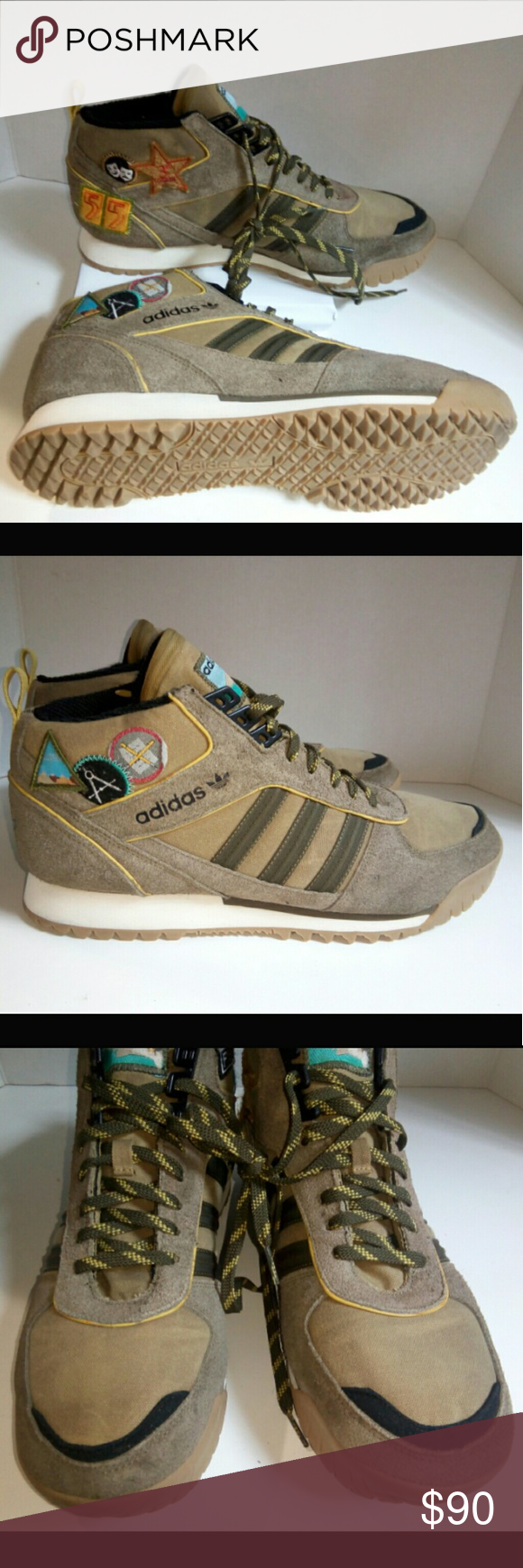 056830044 Adidas ZX TR Mid Extra Butter Field Mate 13 Shoes Adidas ZX TR Mid Extra  Butter