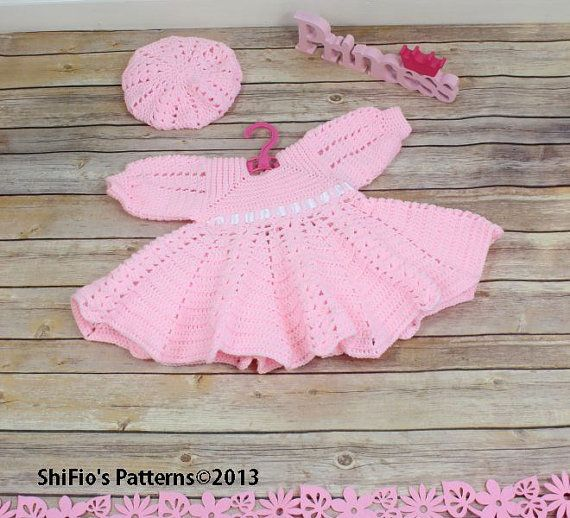 CROCHET PATTERN Summer Satin Dress & Hat Pattern in 3 by ShiFio