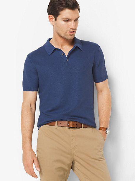 8a7976f3e Silk And Cotton Polo Shirt