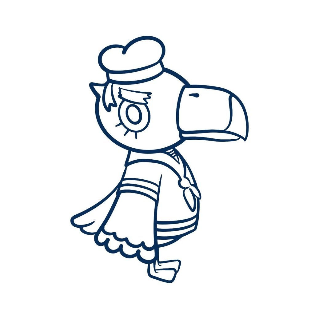 Gulliver Animal Crossing Free Colouring Page in 2020