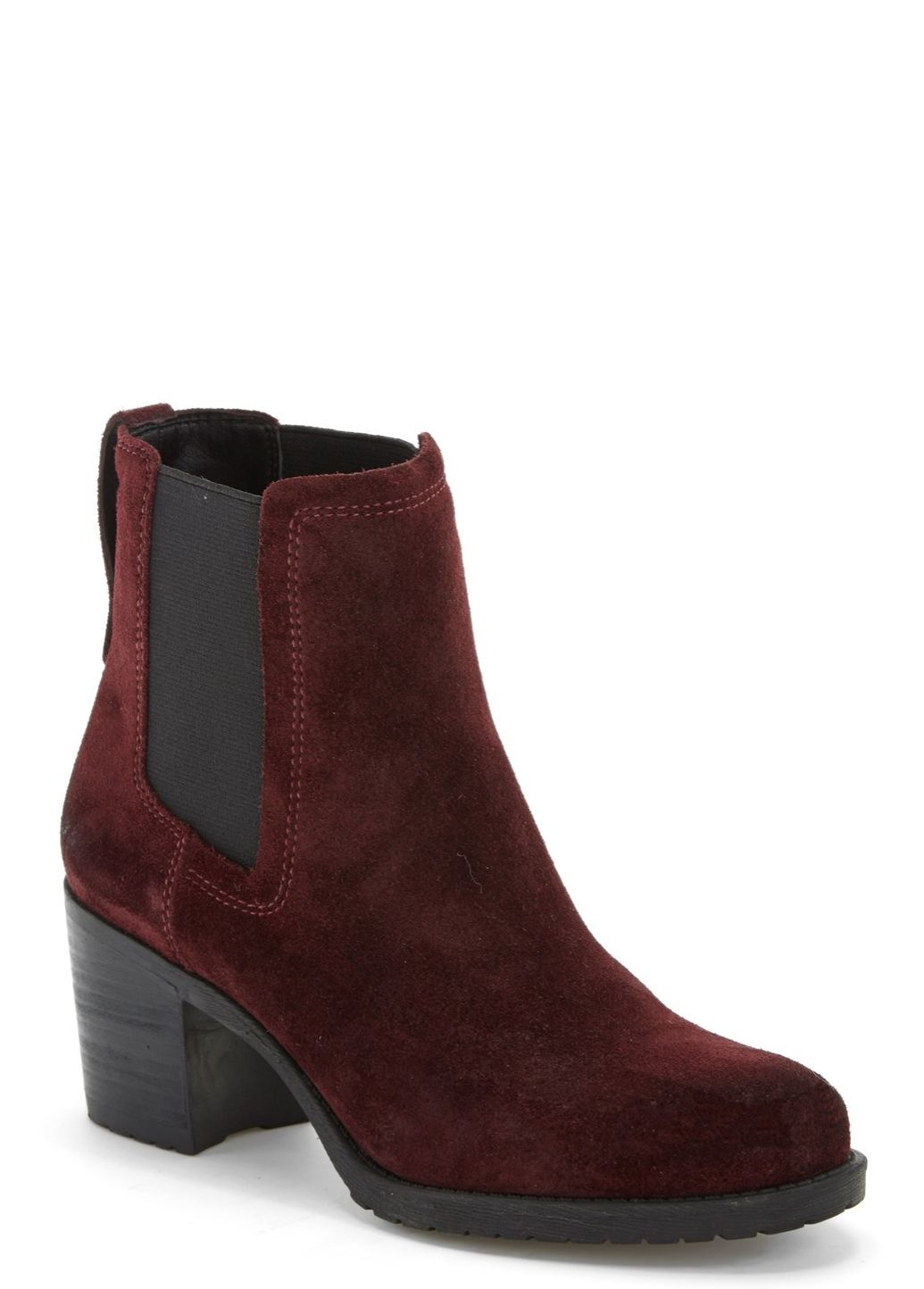 These burgundy suede Chelsea boots are sure to be denim's best friend this autumn.