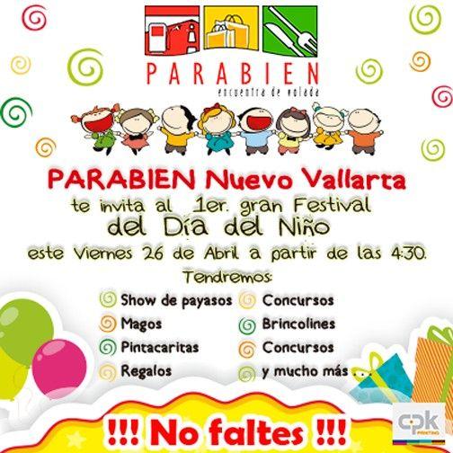 Primer Festival del Día del Niño en Plaza Parabien Nuevo Vallarta