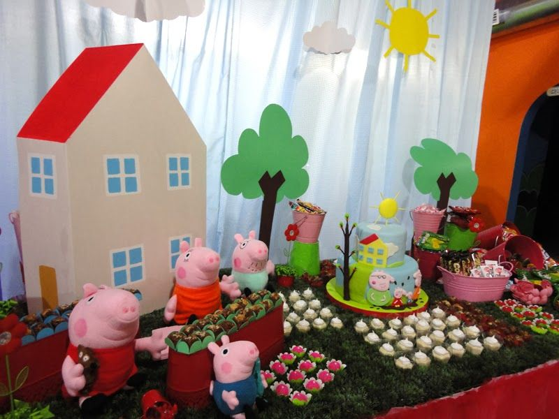 decoracin de cumpleaos de peppapig peppa pig birthday decorations