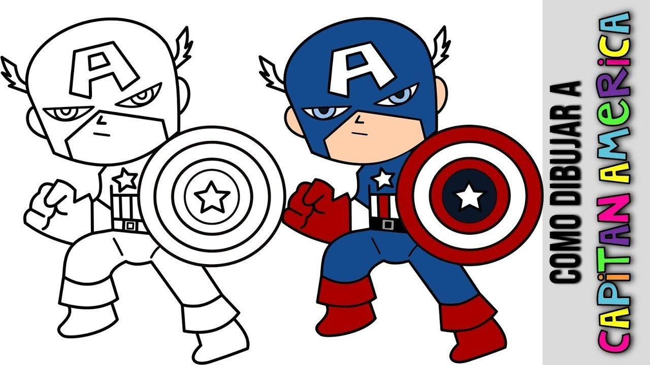 Como Dibujar Capitan America Infinity War Paso A Paso How To Draw Capt Cute Easy Drawings Captain America Drawing Easy Drawings