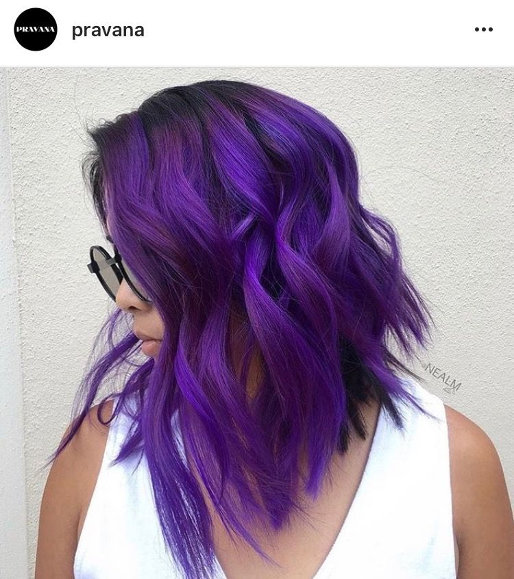 63 Purple Hair Color Ideas To Swoon Over Violet Purple Hair Dye Tips: Colored Hair Tips , Dyed