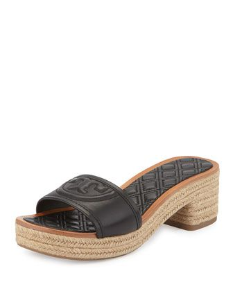 e19be622a Quilted Footbed - Fleming Quilted Leather Espadrille Mule