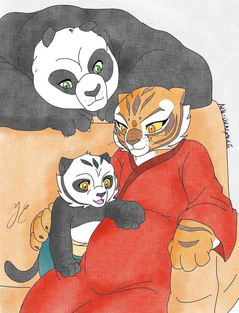 kung fu panda: Po and Tigress by Rocio-Aj on DeviantArt