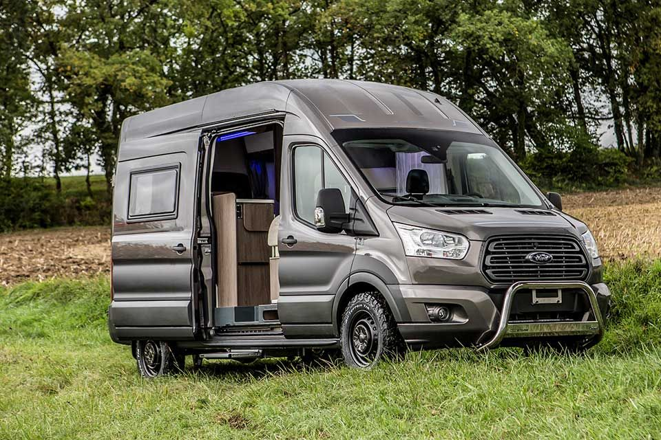 New Trigano Transit Based Campers Boasts Bespoke Mods By Ford Transitional Kitchen Transitional Fireplaces Transitional Decor