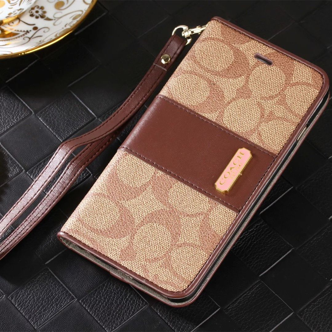 pretty nice 2c18a da803 Coach leather wallet iPhone 7/7 Plus case with strap | iPhone 7/7 ...