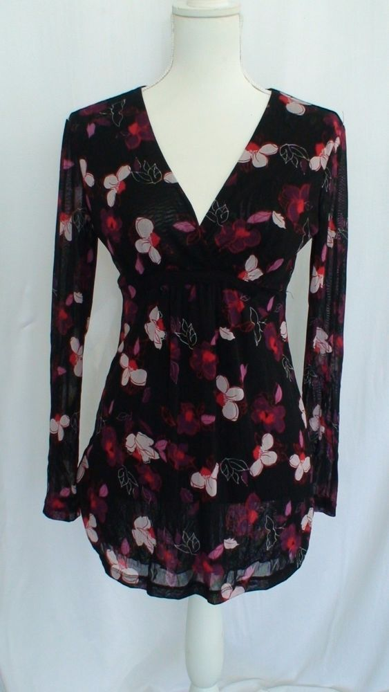 New York Company Floral Tunic Women S Blouse Size S Measurements