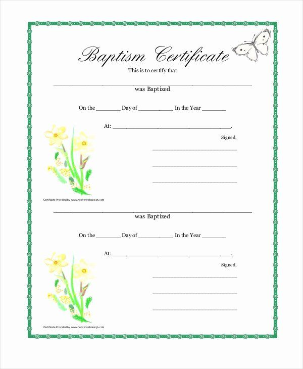 30 Free Printable Baptism Certificates Templates In 2020