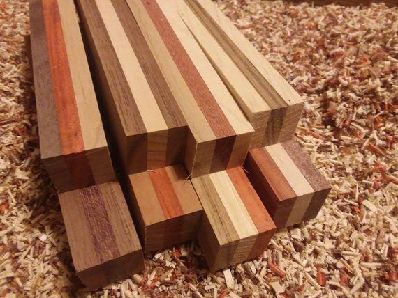 Laminated Pen Blanks Free Shipping Set Of 8 Hardwood Orted