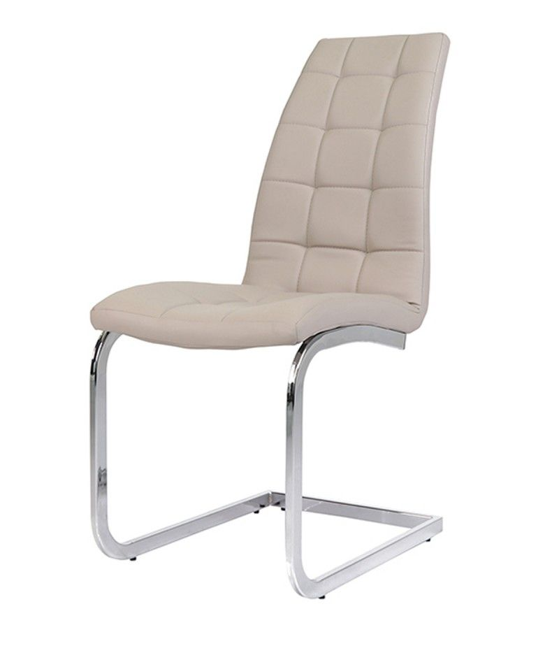 Grey Faux Leather Dining Chairs Freischwinger Stuhle Grau