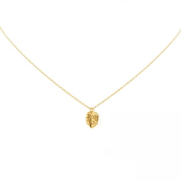 Tiny Monstera Necklace – MishaHawaii