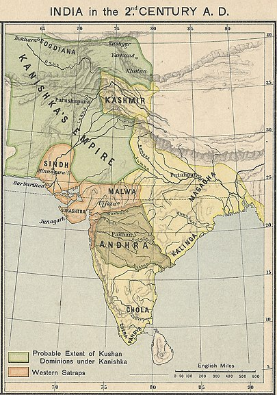 Kushan Empire Wikipedia Ancient india map, History