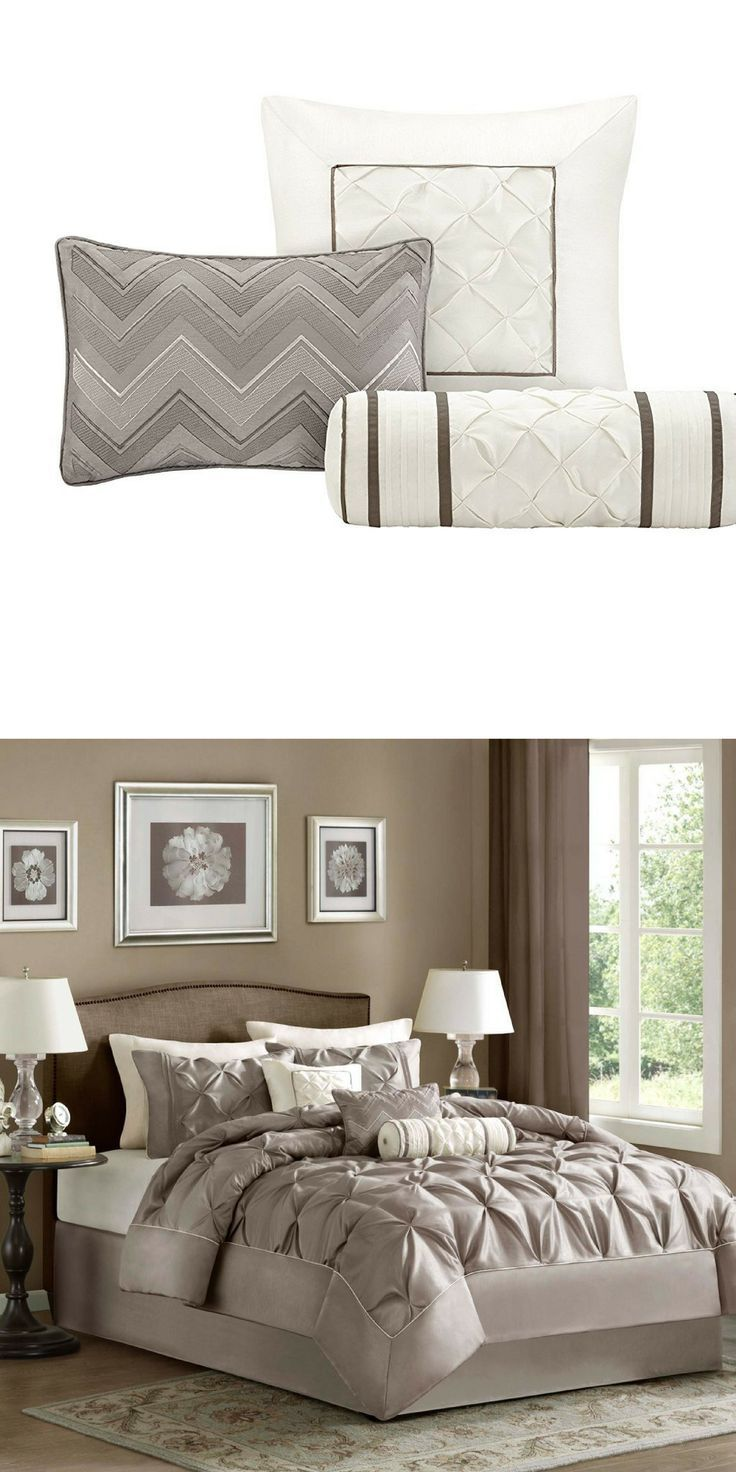 Master bedroom king bed Master Bedroom decor kingbed kingsizebed king love pillows