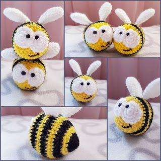 Photo of Crochet Bee Bumsie (quietschendes Spielzeug)