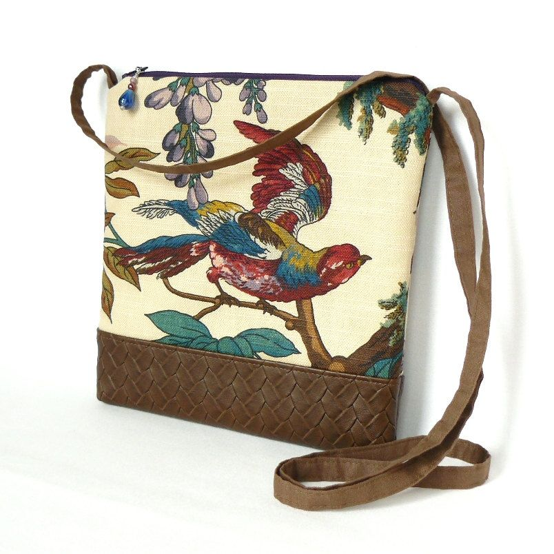 Cross+Body+Bag+Fabric+Hip+Bag+Purse+Pouch++by+VerdigrisCollection,+$20.00