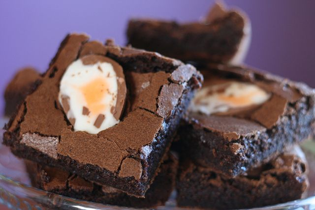 ❥ Egg brownies for #Easter