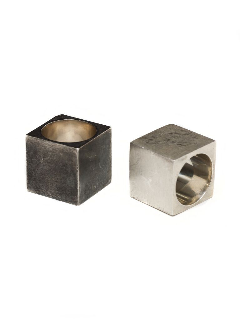 Square Ring by Amy Glenn DESIGNER SAYS: Inspiration comes from silence, from observing the architecture of the mind. Inspired by opposites and complements, the hard and the soft, closeness and distance, what can be heard and what is silence.