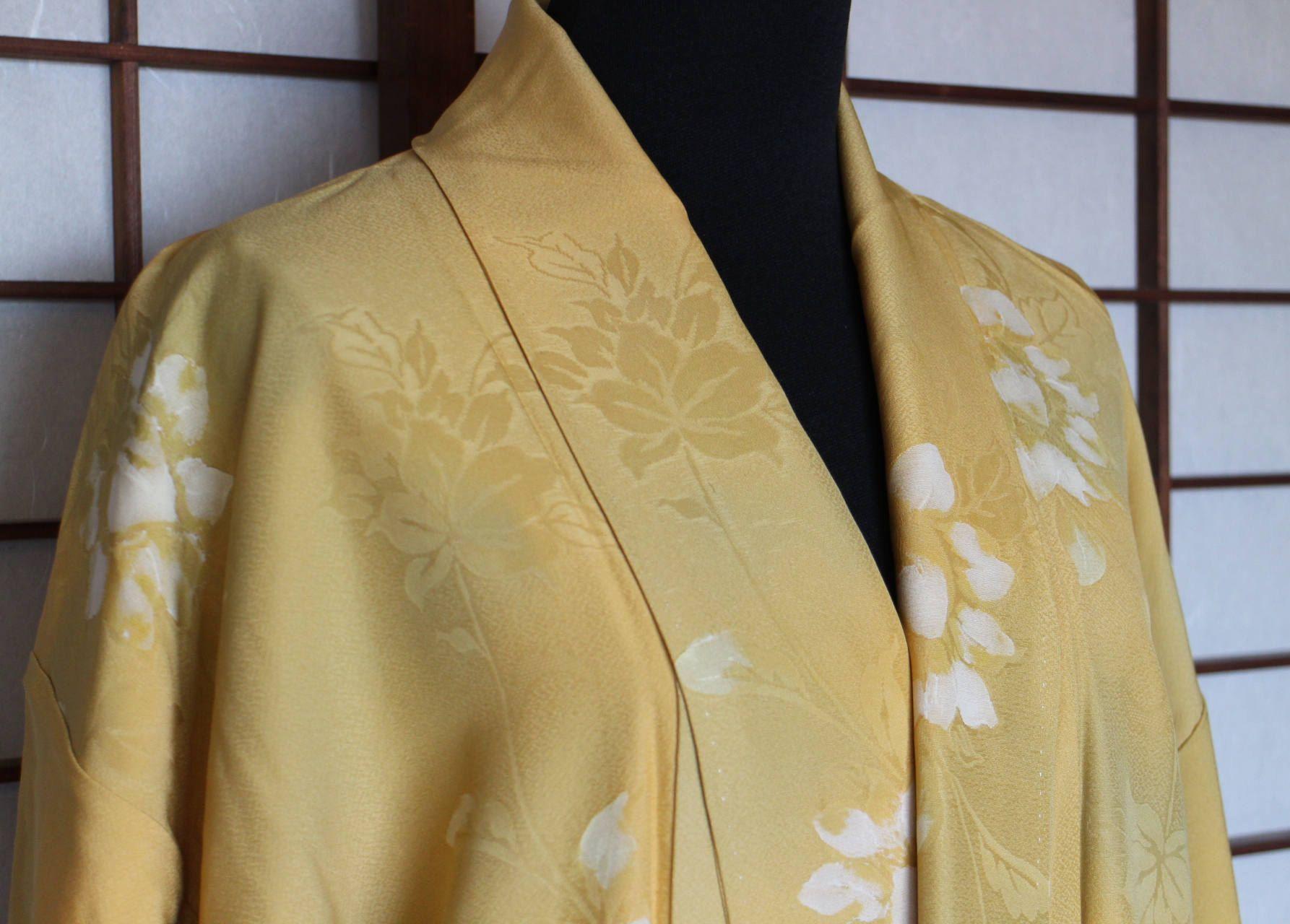Japanese vintage kimono silk fabric Narrow Streets