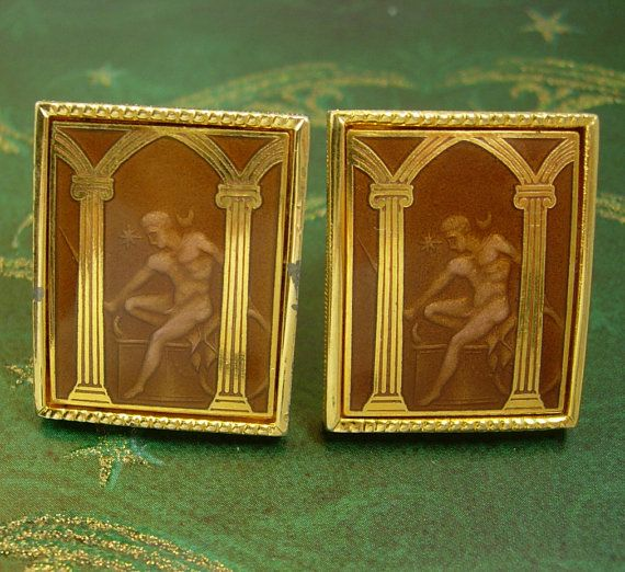 RARE erotic cufflinks Vintage Cuff Link by NeatstuffAntiques