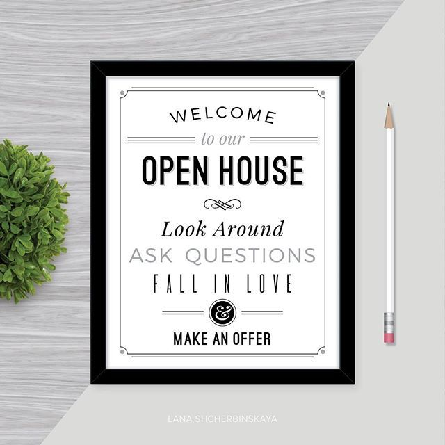 Open House Printable Signs | Real Estate Marketing | Pinterest ...