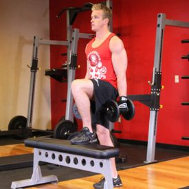 dumbbell step ups  leg workouts for mass dumbbell workout