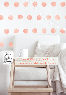 watercolor circle dot shaped wall decals peel and stick vinyl