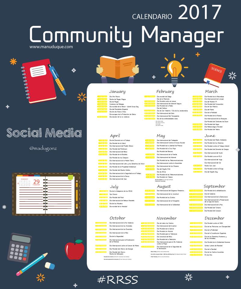Calendario Community Manager Socialmedia Rrss Manejo De Redes Sociales Estrategias De Marketing Redes Sociales Marketing