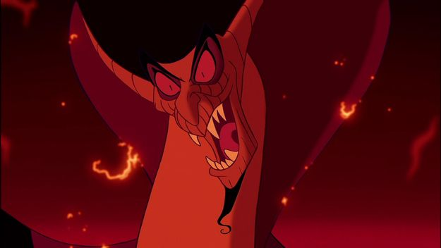 17 downright terrifying disney movie moments aladdin - Serpent aladin ...