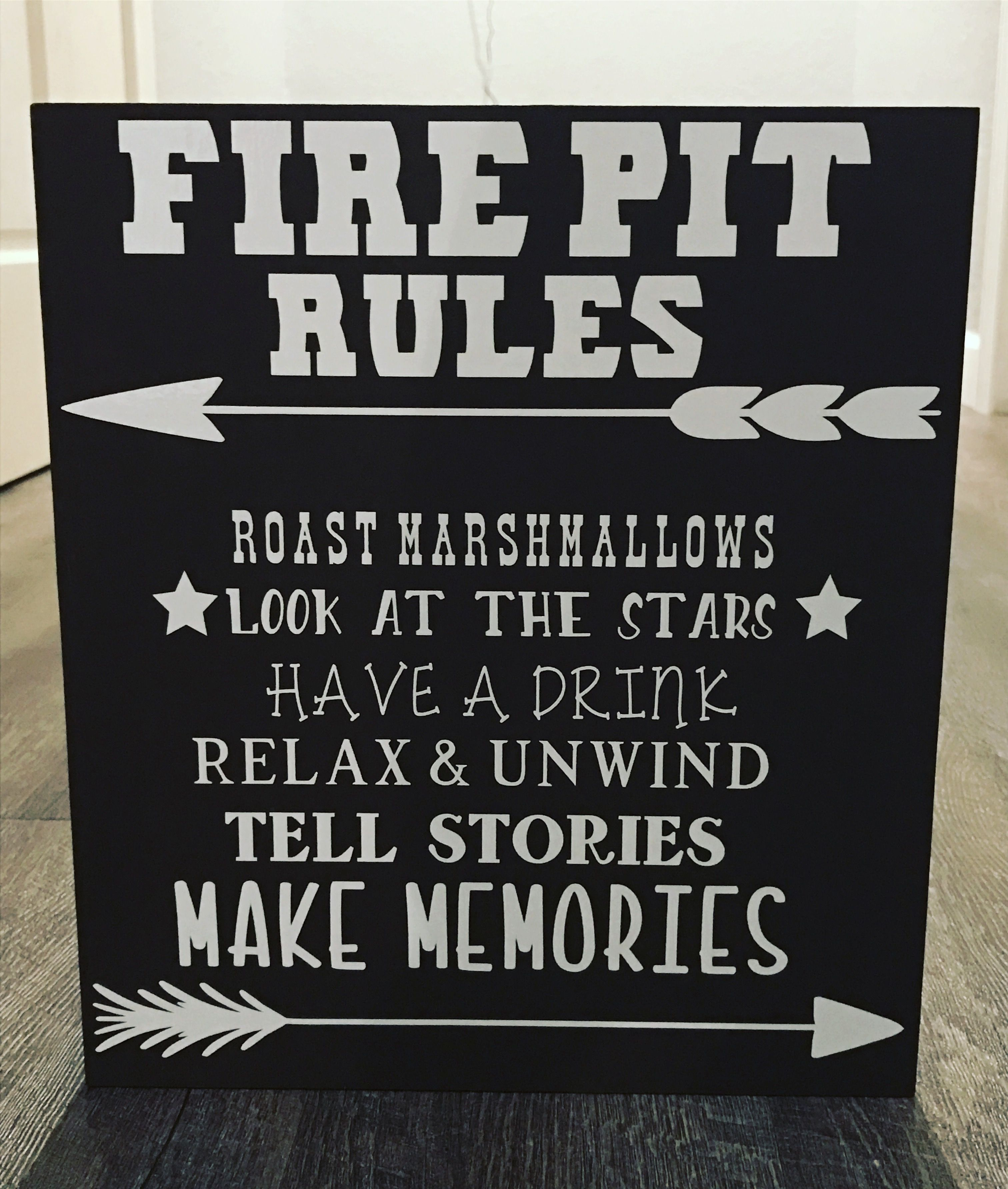 Fire Pit Rules wooden sign | Rustic fire pits, Fire pit ...