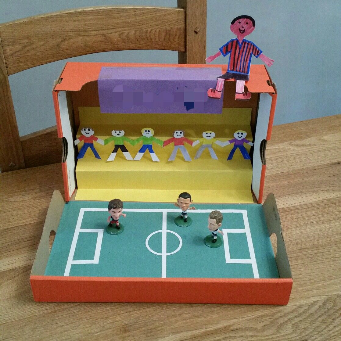 Pin By Interior Designer In A Box On Kids Teenager: Shoebox Football Stadium