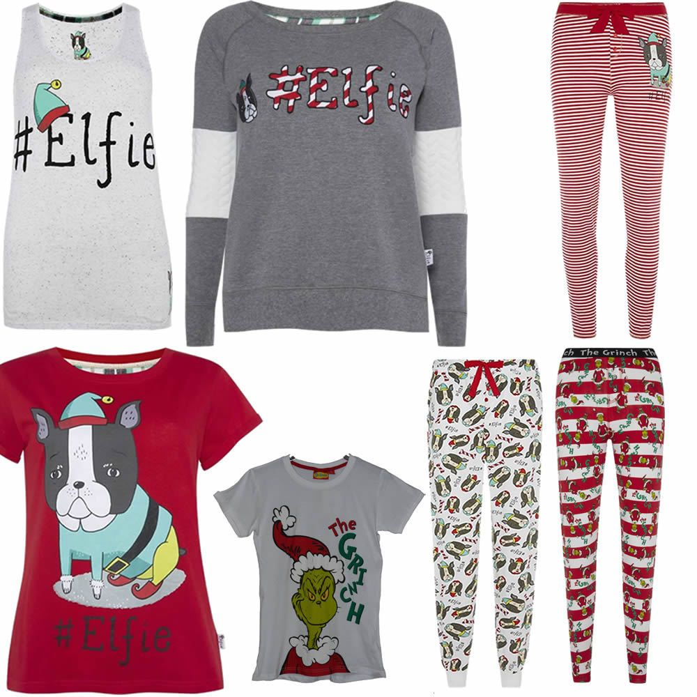 Primark Ladies Women Licensed The Grinch Elfie Christmas Xmas T