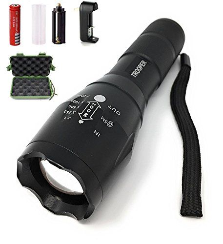 Led Rechargeable Tactical Flashlight 1000 Lumens Outdoor Waterproof Crushproof Freezeproof 18650 Li Ion Battery I Tactical Flashlight Portable Light Flashlight