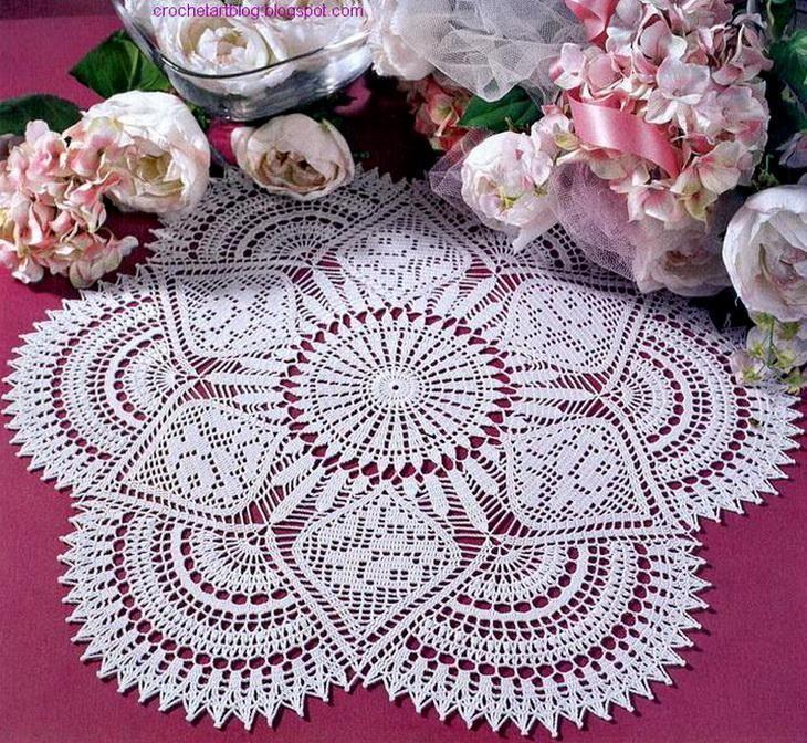 Crochet Doily Pattern Free Royal Style Tablecloth Crochet Art