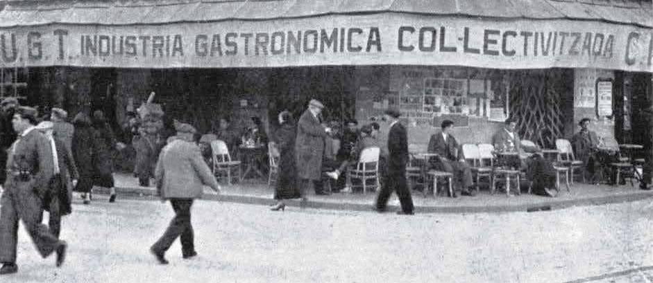 Café, en las Ramblas de Barcelona, colectivizado | Barcelona, Barcelona  ciudad, España
