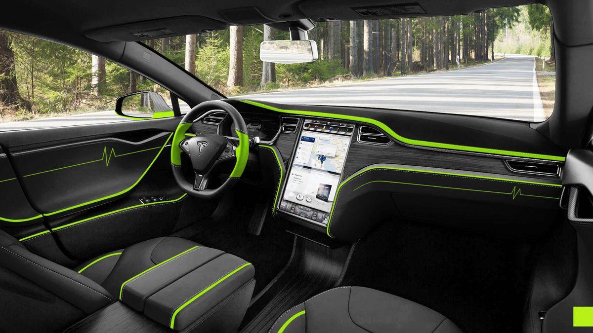 Custom Tesla Model S Interior | Tesla life! | Pinterest | Forged ...