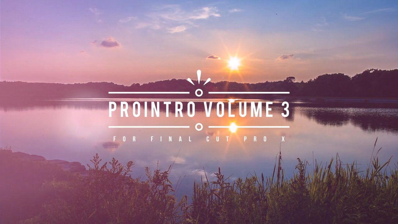 ProIntro: Volume 3   Motion templates   Final cut pro, Film studio, Film
