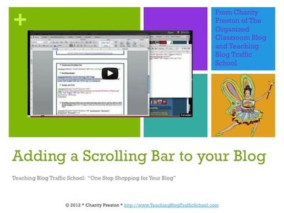 How To Add a Scrolling Bar to your Blog Video Mini-Course  $1.98
