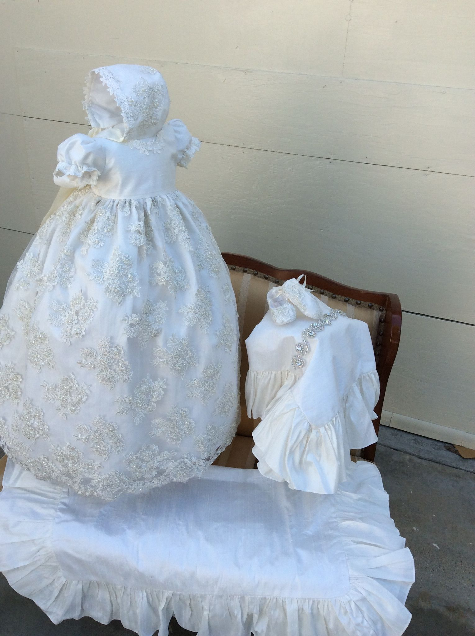 Christening Gown-Baptism lace gown-christening wear-Claudette | Products