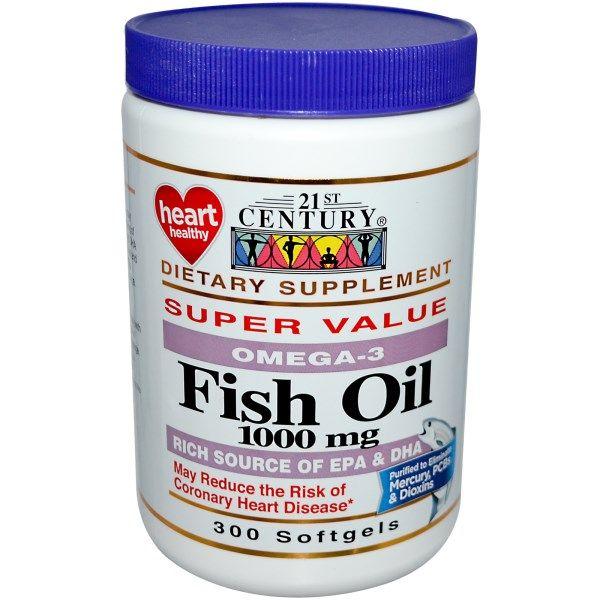 21st Century Fish Oil 1 000 Mg 300 Softgels Rybij Zhir