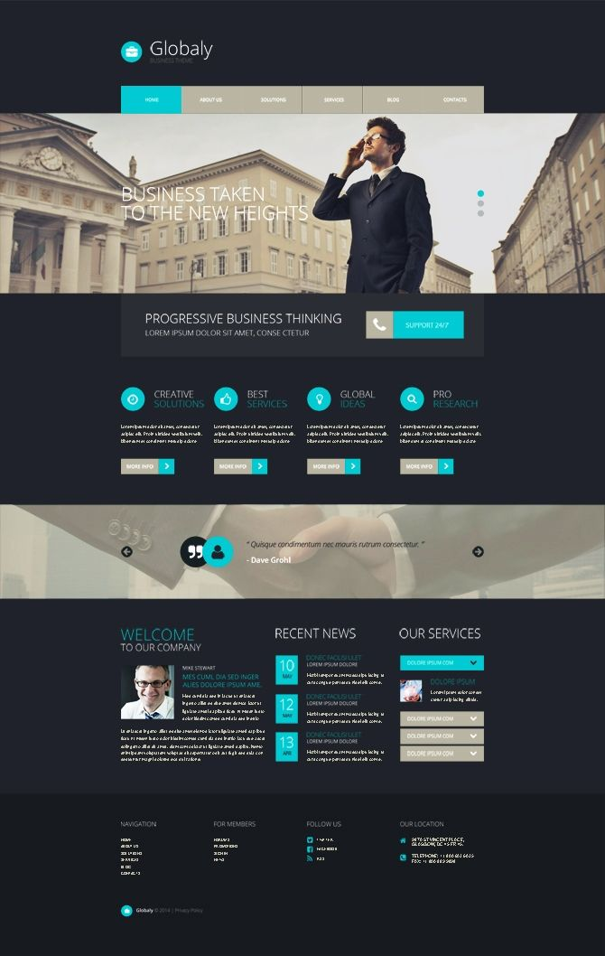 Free WordPress Business Template http://www.templatemonster.com ...