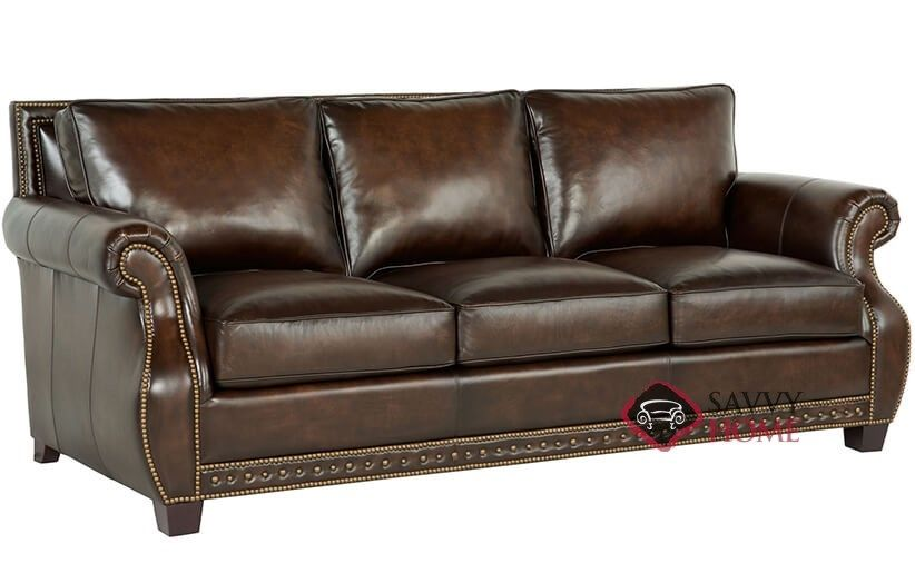 Astonishing Parker Leather Sofa With Down Blend Cushions By Bernhardt In Interior Design Ideas Inesswwsoteloinfo