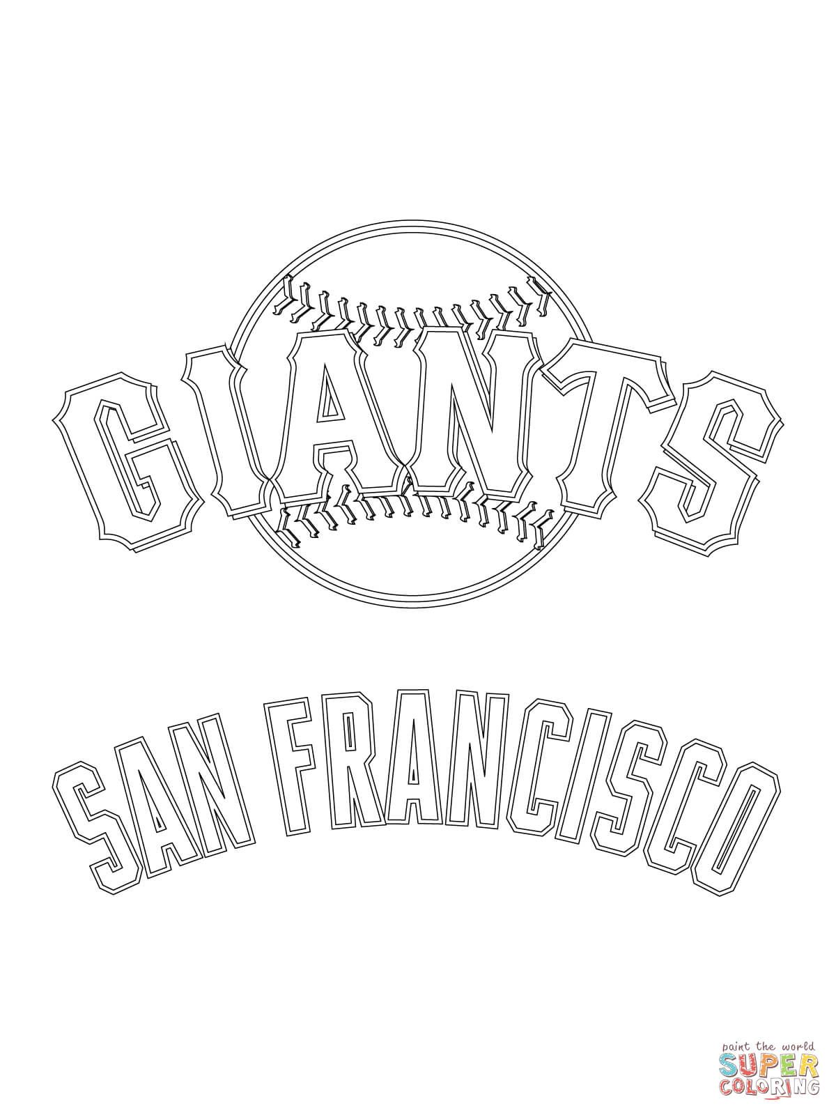 San Francisco Giants Logo Coloring Pages Sf Giants Logo San Francisco Giants Logo Sports Coloring Pages