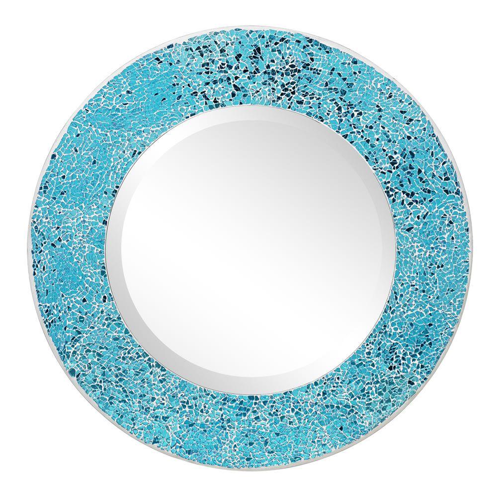 Wilko Mosaic Mirror Aqua at wilko.com | New bathroom | Pinterest