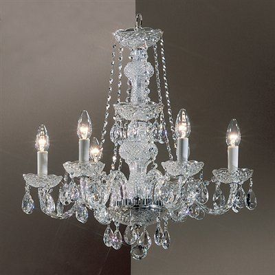Option dining room pinterest chandeliers crystals and lights classic lighting 6 light monticello italian crystal chandelier the mine mozeypictures Images