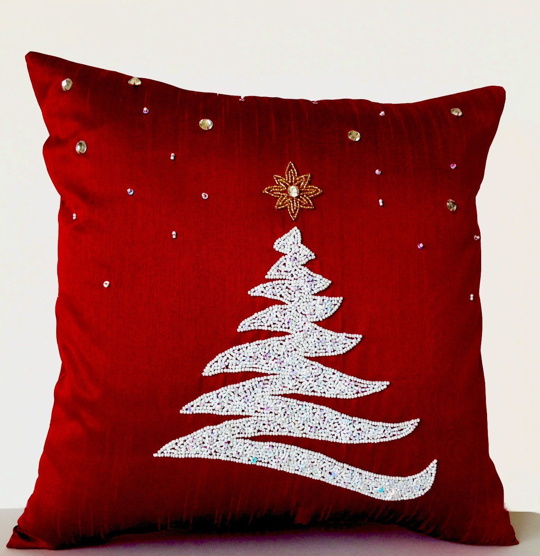 Christmas Pillows, Christmas Throw Pillow Cover, C