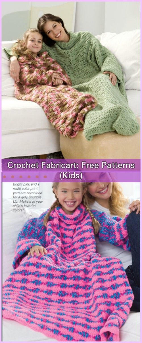 Crochet Snuggle Up Afghan Blankets With Sleeves Free Patterns ...