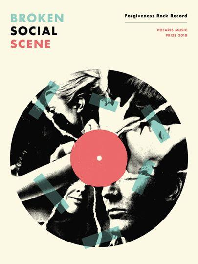 Doublenaut - Broken Social Scene gig poster